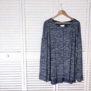 Lou & Grey space dye long sleeve tunic tee